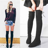 Over The Knee Boots Faux Suede | Thigh High Boots-knee high boots-Vinny's Digital Emporium