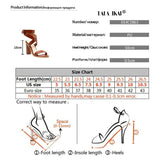 Women's Open Toe High Heel Shoes Gladiator Ankle Strap Buckle Summer Sandals-shoes-Vinny's Digital Emporium