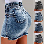 Denim Mini Skirt Summer Outfit For Going Out-denim mini skirt-Vinny's Digital Emporium