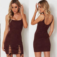 Sexy Sleeveless Spaghetti Strap Bodycon Mini Dress-mini dress-Vinny's Digital Emporium