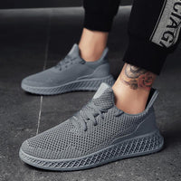 Lightweight Men's Sneakers | Breathable Mesh Running Shoes-sneakers-Vinny's Digital Emporium