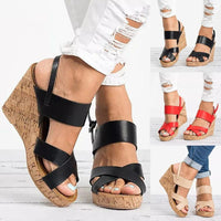Boho Wedge Heel Sandals For Women-wedge heel sandals-Vinny's Digital Emporium