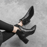 High Heel Ankle Boots | Genuine Leather Ankle Boots-ankle boots-Vinny's Digital Emporium