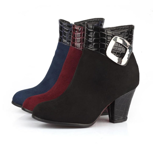 68dc022ca889 Womens Ankle Boots Low Heel-ankle boots-Vinny s Digital Emporium ...