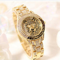 Leopard Rhinestone Bracelet Wristwatch Women's Tiger Watch-womens watch-Vinny's Digital Emporium