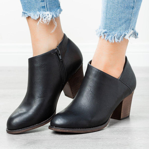 Low Heel Ankle Boots With Pointed Toe | Women's Ankle Boots