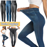 High Waist Denim Leggings | Push Up Jeggings Elastic Pants-leggings-Vinny's Digital Emporium