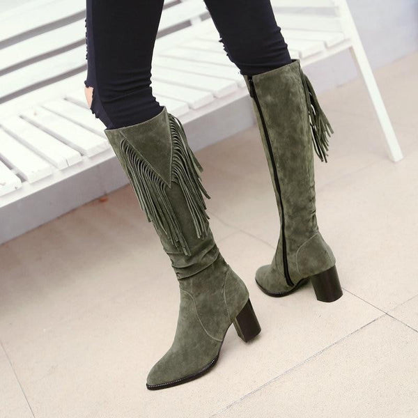 Knee High Winter Boots-knee high boots-Vinny's Digital Emporium
