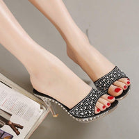 Women's High Heel Sandals Rhinestone Shoes Bowknot Platform Open Toe Slippers-shoes-Vinny's Digital Emporium