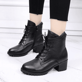 Genuine Leather Ankle Boots | High Heels Boots-ankle boots-Vinny's Digital Emporium