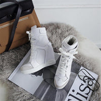 Lace Up Ankle Boots | High Heel Sneaker Boots-sneaker boots-Vinny's Digital Emporium