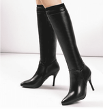 Knee High Boots | Pointed Toe Boots-knee high boots-Vinny's Digital Emporium