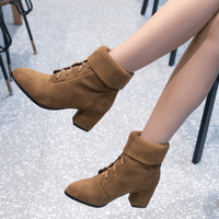 Women's Ankle Boots | Lace Up Ankle Booties-ankle booties-Vinny's Digital Emporium