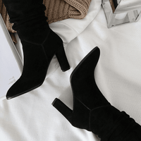 Suede Knee High Boots For Women-knee high boots-Vinny's Digital Emporium