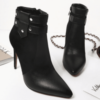 Pointed Toe Ankle Boots | High Heel Ankle Boots-ankle boots-Vinny's Digital Emporium