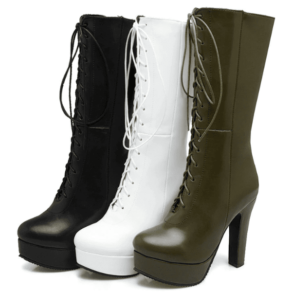 Lace Up Knee High Boots | Knee High Platform Boots