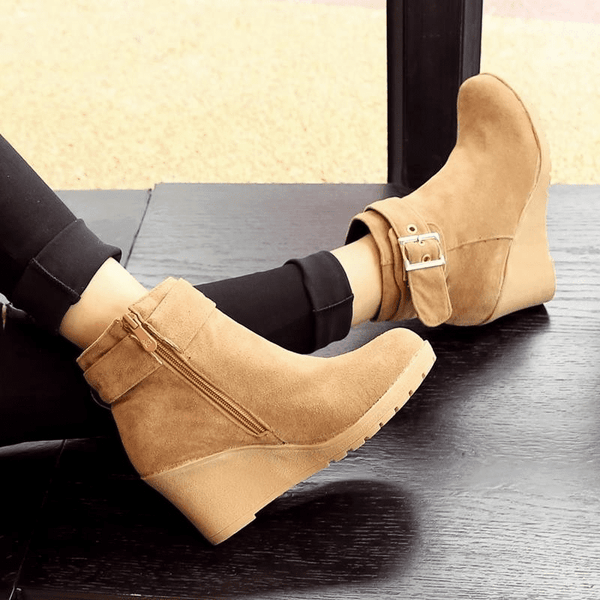 High Heel Ankle Boots | Wedge Heel Ankle Boots-ankle boots-Vinny's Digital Emporium