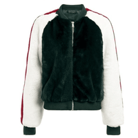 Zipper Up Faux Fur Jacket-faux fur jacket-Vinny's Digital Emporium