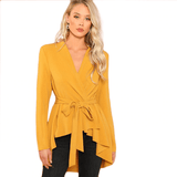 Women's Fashion Coat | Belted Office Coat-coat-Vinny's Digital Emporium