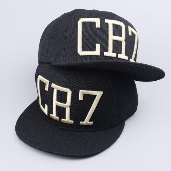 Cristiano Ronaldo CR7 Black Blue Baseball Caps hip hop Sports Snapback Football Hat-baseball cap-Vinny's Digital Emporium