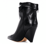 Genuine Leather High Heel Ankle Boots-ankle boots-Vinny's Digital Emporium