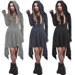 Hooded Mini Dress | Long Sleeves Sweatshirt Dress-dress-Vinny's Digital Emporium