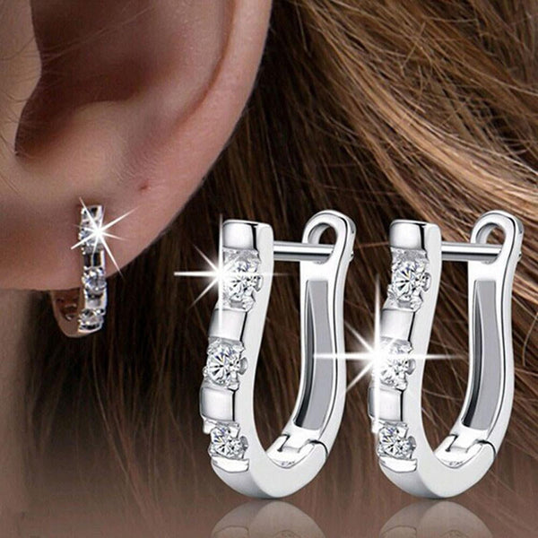 Stud Hoop Earrings Loop Huggies Fashion Stainless Steel Women Jewelry-earrings-Vinny's Digital Emporium