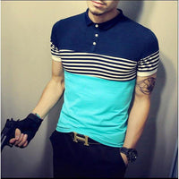 Men's Shirt Short Sleeve Slim Polo T Shirt Summer Casual Fashion-Vinny's Digital Emporium