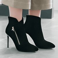 Thin High Heel Ankle Boots | Pointed Toe Ankle Boots-ankle boots-Vinny's Digital Emporium