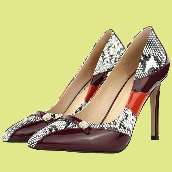 Stilettos High Heel Shoes | Slip On Pointed Toe Pumps-high heel pumps-Vinny's Digital Emporium