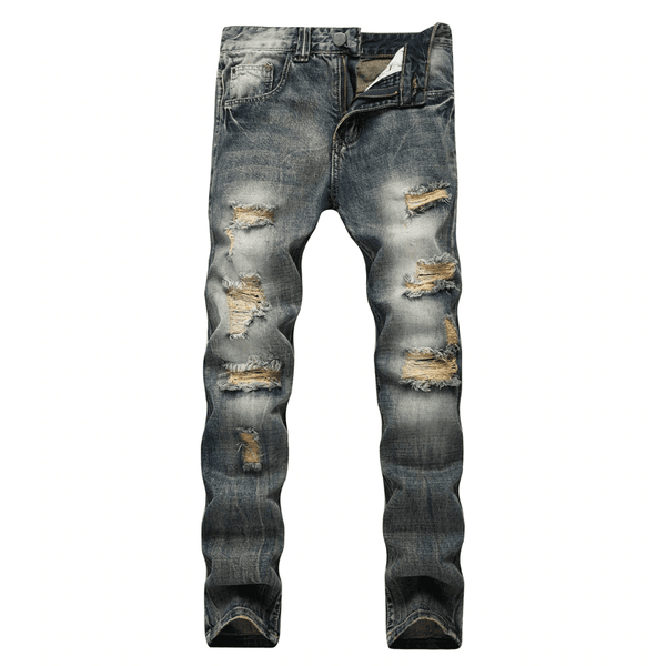 Men's Retro Skinny Fit Jeans | Men's Denim Fashion Jeans-mens jeans-Vinny's Digital Emporium