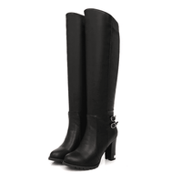 Women's Knee High Snow Boots With Fur-knee high boots-Vinny's Digital Emporium