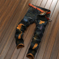 Men's Designer Jeans | Ripped Jeans Mens Fashion-jeans-Vinny's Digital Emporium