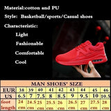 Mens Breathable Gym Sports Running Casual Shoes Sneakers Trainers Fitness-sneakers-Vinny's Digital Emporium