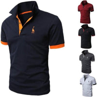 Men's Fashion Personality Cultivating Short-sleeved Shirt POLO-polo shirt-Vinny's Digital Emporium
