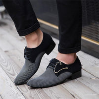 Men's Shoes Lace-up Casual Pointed Business-shoes-Vinny's Digital Emporium