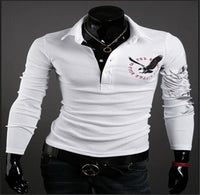 Mens Polo Shirt Short Sleeve T-Shirt Classic Crew Neck Standard Fit Tattoo Style-polo shirt-Vinny's Digital Emporium