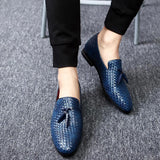 Slip On Mens Loafer Shoes | Tassel Slip On Dress Shoes Loafers-shoes-Vinny's Digital Emporium