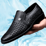 Genuine Leather Oxfords Shoes | Men's Italian Loafers-mens oxford shoes-Vinny's Digital Emporium