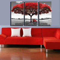Oil Painting Picture Print Wall Decoration Decor Large Red Tree Modern Art Canvas Unframed-painting-Vinny's Digital Emporium