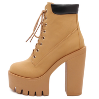 Platform Ankle Boots Winter Heels For Women-platform boots-Vinny's Digital Emporium