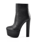 Platform High Heel Ankle Boots For Women-high heel platform boots-Vinny's Digital Emporium