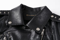 Faux Soft Leather Biker Jackets Motorcycle Streetwear For Women-leather jacket-Vinny's Digital Emporium