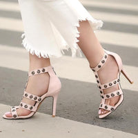 Women's Sandals Gladiator Fashion High Heel Shoes Summer Open Toe Pumps-shoes-Vinny's Digital Emporium