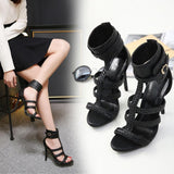 Women Shoes Sandals Pumps Gladiator Open Peep Toe Casual Strap Ankle Strappy-shoes-Vinny's Digital Emporium