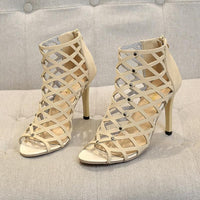 Women's Gladiator Sandals Thin High Heel Peep Toe Shoes Summer Fashion Pumps-shoes-Vinny's Digital Emporium