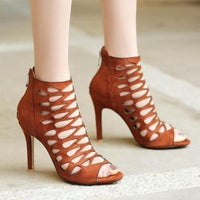 Women's Sandals Summer High Heel Shoes Peep Toe Ladies High Heels-shoes-Vinny's Digital Emporium