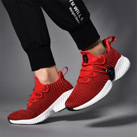 Men's Breathable Sneakers | Lace-up Trainers Running Shoes-sneakers-Vinny's Digital Emporium