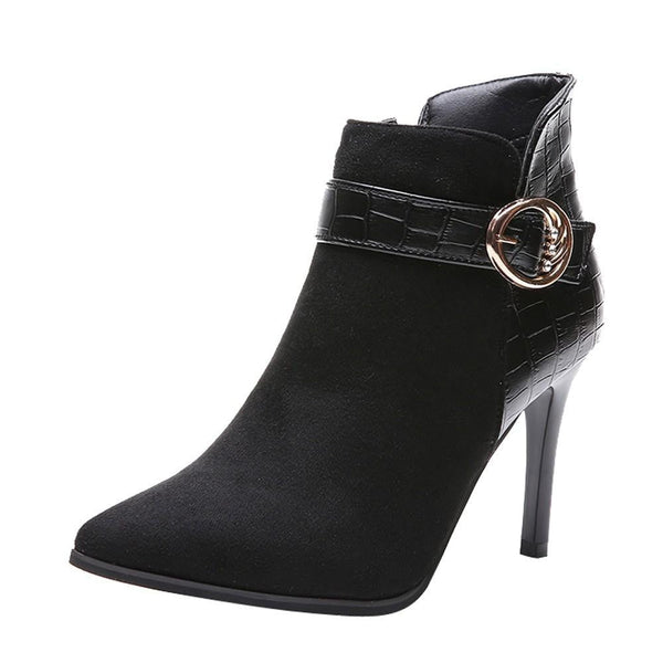High Heel Boots | Stiletto Heel Ankle Boots-ankle boots-Vinny's Digital Emporium