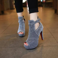 Thin High Heel Sandals | Peep Toe Toe Platform Shoes-high heel sandals-Vinny's Digital Emporium